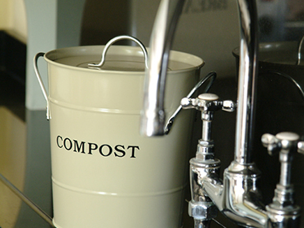 soft green kitchen compost bucket