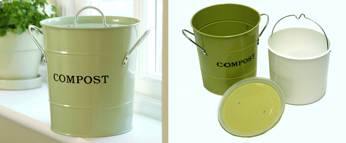 2-N-1 Kitchen Compost Bucket