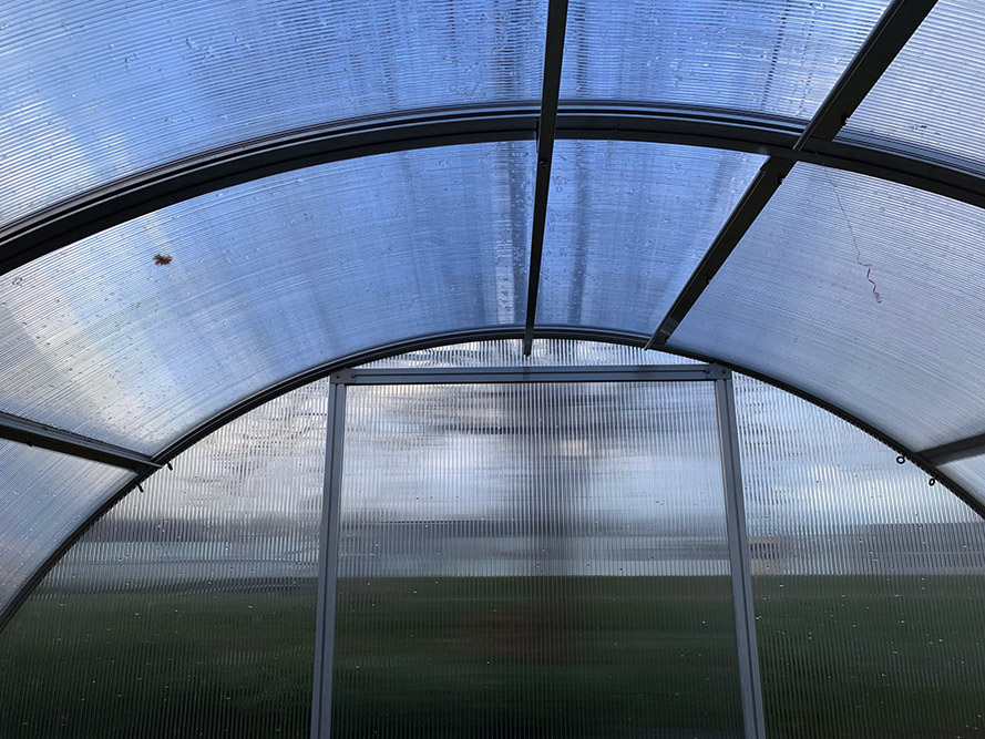 Arcus Greenhouse - Inside Roof View