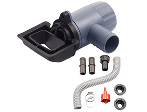 Rectangular universal downspout connecting kit