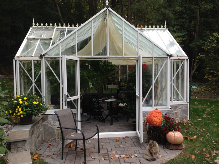 Royal Victorian Antique Orangerie Greenhouse in Use