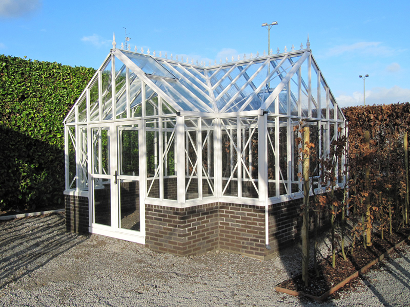 Newly Constructed Royal Victorian Antique Orangerie Greenhouse