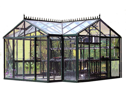 White background greenhouse