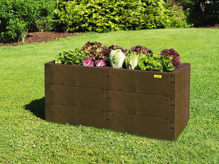 Timber Raised Bed - Double and Single Together