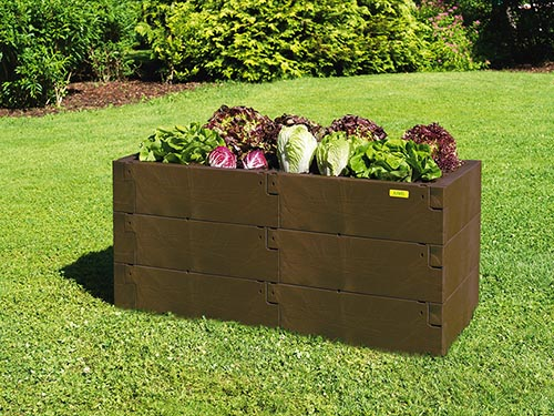 triple high timber raised bed