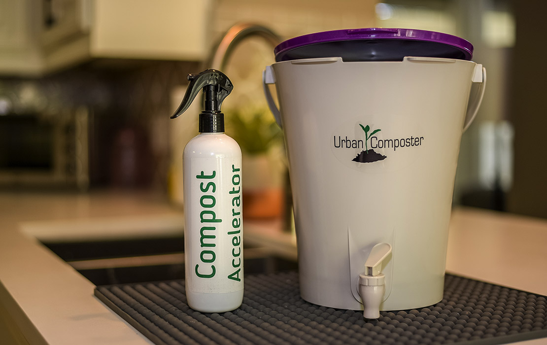 Urban Composter - Small purple with Spray