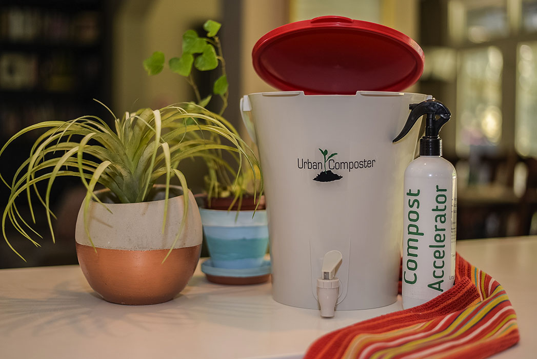 Urban Composter - Small red with spray 2