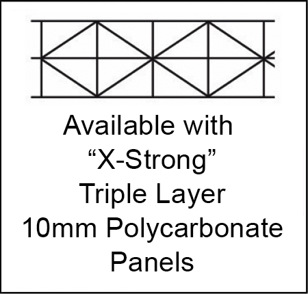 triple layer X-strong 10mm polycarbonate walls available