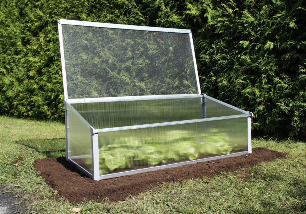 Year Round Cold Frame Lid Open